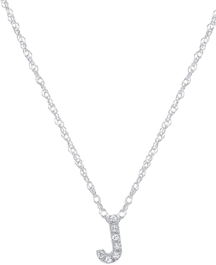 Ron Hami 14K White Gold Diamond Initial Slider Pendant Necklace - Multiple Letters Available