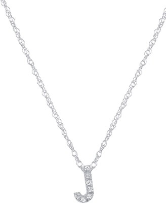 Ron Hami 14K White Gold Diamond Initial Slider Pendant Necklace - 0.03 ctw - Multiple Letters Available