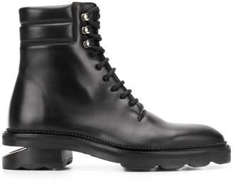 Alexander Wang Cut-Out Sole Combat Boots