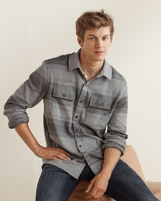 Express Upwest Canyon Stripe Flannel Shirt