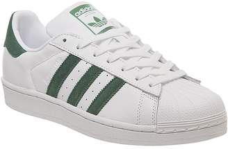 adidas Superstar 1 Trainers White Collegiate Green