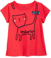 First Impressions Kitty-Print Cotton T-Shirt, Baby Girls (0-24 Months), Created for Macy's