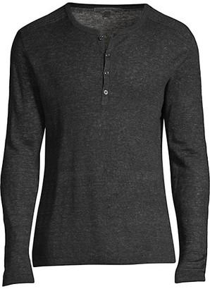 John Varvatos Slim-Fit Henley Shirt