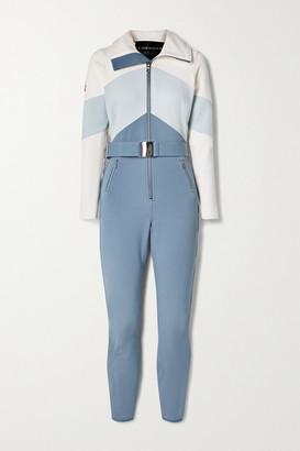 Cordova Alta Belted Color-block Ski Suit - Blue