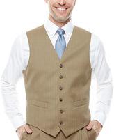 STAFFORD Stafford Travel Tan Herringbone Suit Vest - Classic Fit
