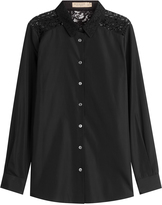 Burberry Cotton Shirt with Lace Back