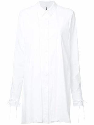 Masnada Fold Detail Longline Shirt