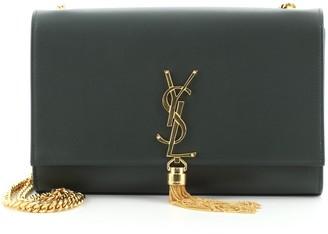 Saint Laurent Classic Monogram Tassel Crossbody Bag Leather Medium