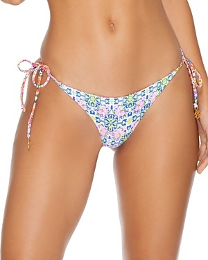 Luli Fama Rayando El Sol Reversible Brazilian Ruched Bikini Bottom
