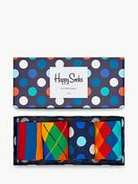 Happy Socks Bright Pattern Socks, One Size, Pack Of 4, Multi