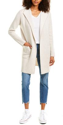 Forte Cashmere Reversible Jacquard Cashmere Cardigan