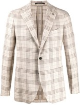 Tagliatore single breasted checked blazer