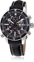 Fortis Men's 639.22.11 L.01 B-42 Black Alarm Chronograph Black Leather Calfskin Band Watch.