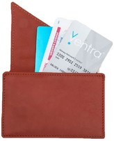 Holly & Tanager Insider Leather Card Holder Wallet In Orange