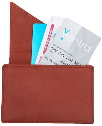 Insider Leather Card Holder Wallet In Orange