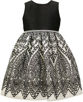 Jayne Copeland Black and White Party Dress, Little Girls (4-6X)