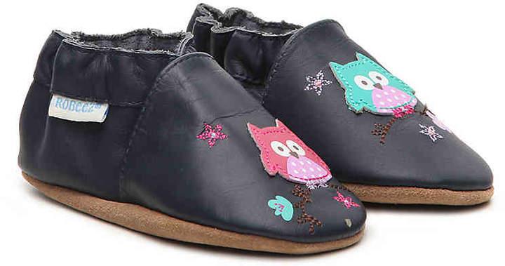 Robeez Hoot Hoot Infant & Toddler Slip-On Crib Shoe - Girl's