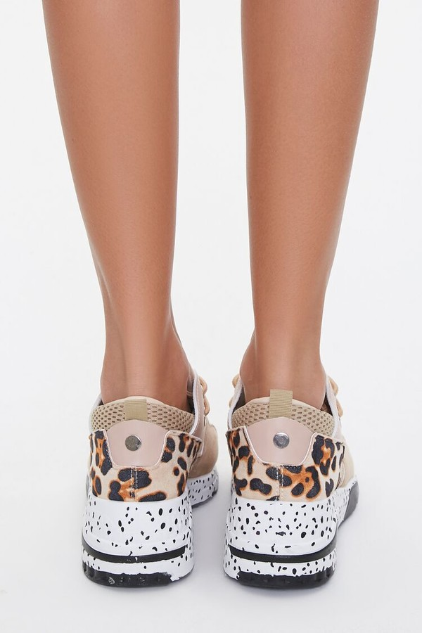 Thumbnail for your product : Forever 21 Glittered Low-Top Sneakers