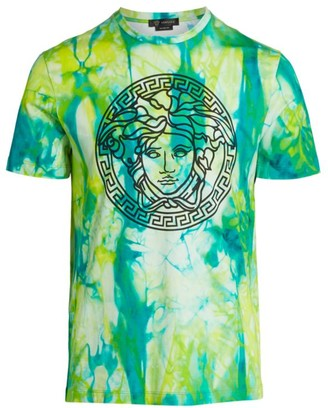 Versace Medusa Jungle-Print Logo T-Shirt