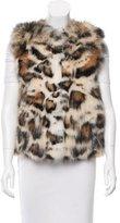 Miu Miu Fur Leopard Print Vest
