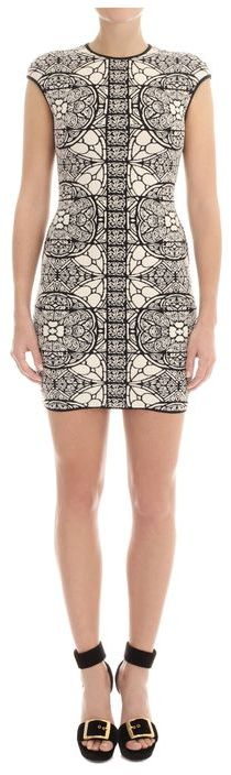 Alexander McQueen Stained Glass Chenille Jacquard Mini Dress