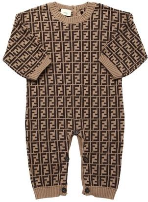 Fendi Cotton Blend Knit Romper