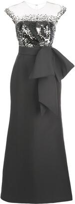Sachin + Babi Elisa sequin-bodice gown
