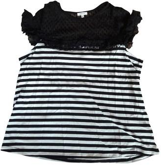 Manoush Black Cotton Top for Women