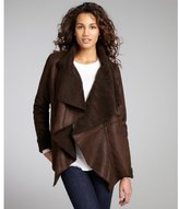 Romeo & Juliet Couture brown faux suede and faux shearling jacket