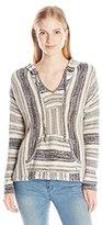 Billabong Women's Bonfire Beach Baja Hooded Stripe Sweater