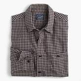 J.Crew Slim midweight flannel shirt in brown check