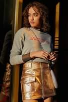 Urban Outfitters Parker Metallic Zipper Mini Skirt