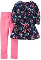 Carter's Girls 4-8 Floral Baby Doll Top & Solid Leggings