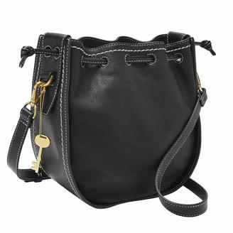 Fossil Women's Palmer Leather Drawstring Crossbody Handbag