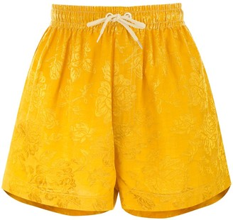 Karen Walker Maple drawstring-waist shorts