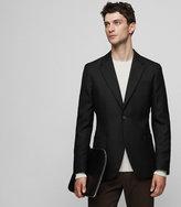 REISS Rage - Slim Wool Blazer in Black, Mens
