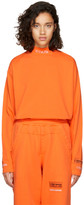 Heron Preston Orange Long Sleeve 'CTNMB' T-Shirt