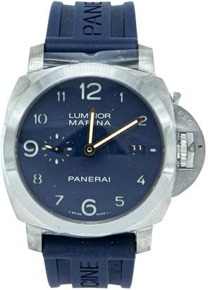Panerai Blue Titanium Luminor Marina Limited Edition Harrods Edition 33/100 Men's Watch 44MM