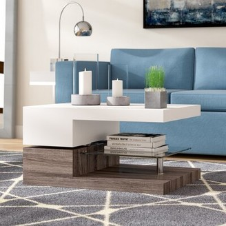 Wade Logan Delwood Coffee Table Color: Black Oak