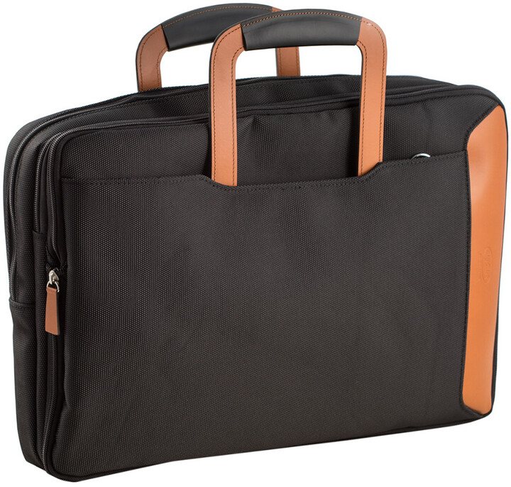 Bey-Berk Bey Berk Saddle Leather & Ballistic Nylon Briefcase