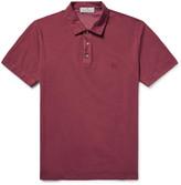 Canali Stretch-Cotton Piqué Polo Shirt