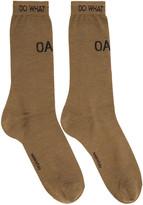 Oamc Tan Logo Socks