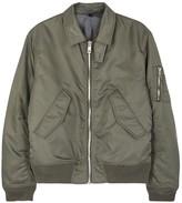 Plac Olive Satin Bomber Jacket