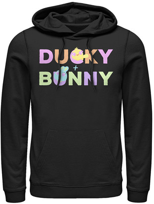 Fifth Sun Sweatshirts and Hoodies BLACK - Toy Story Black 'Ducky & Bunny' What's in a Name Hoodie - Adult