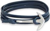 Miansai Anchor charm leather wrap bracelet