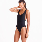 J.Crew Plunging scoopback one-piece swimsuit in Italian matte
