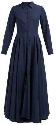 Evi Grintela Juliette Cotton Maxi Shirtdress - Womens - Navy