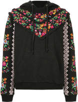 Needle & Thread floral embroidered hoodie