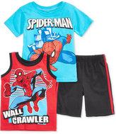 Nannette Spider-Man Cotton T-Shirt, Tank Top & Shorts Set, Toddler & Little Boys (2T-7)