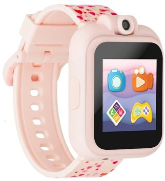 iTouch PlayZoom 2 Smartwatch with Camera and Learning Games, Wristwatches for Girls ages 4-7 (Blush Hearts)